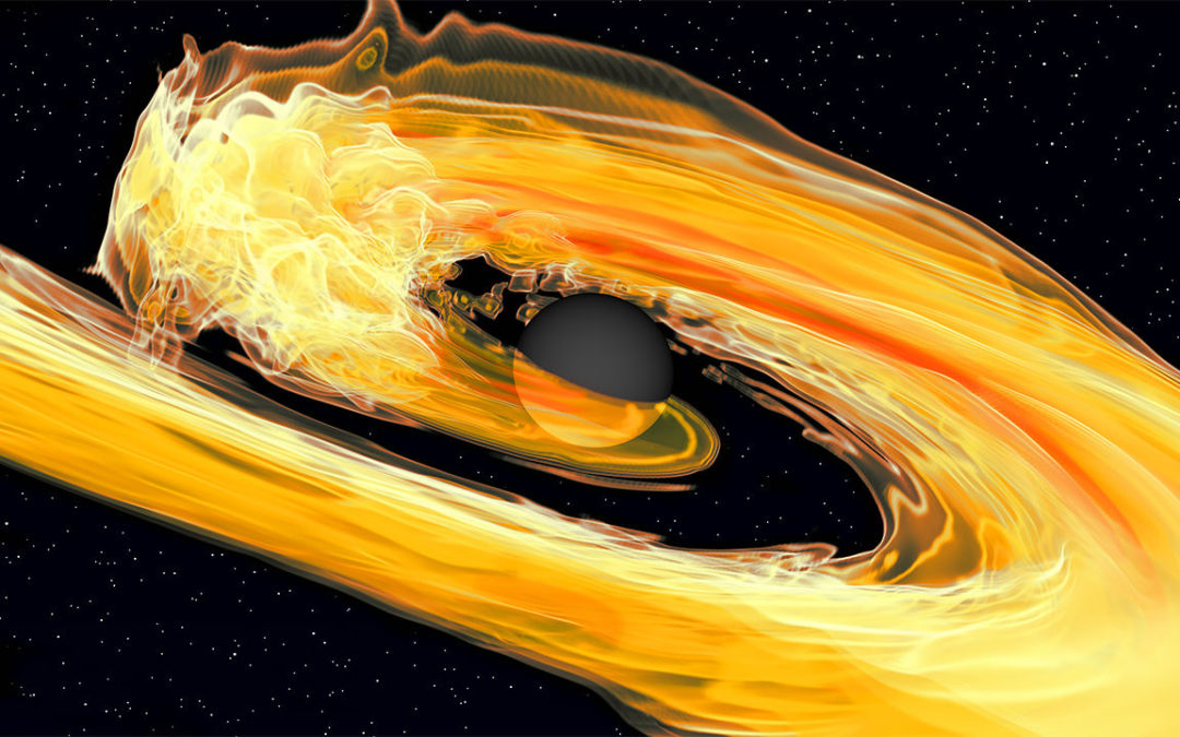 With a neutron star-black hole systemwaves of gravity ripple out